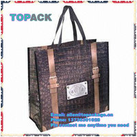 2015 promotion recycled PP woven bag for shopping, Laminated PP woven bag in Vietnam, CHEAP price