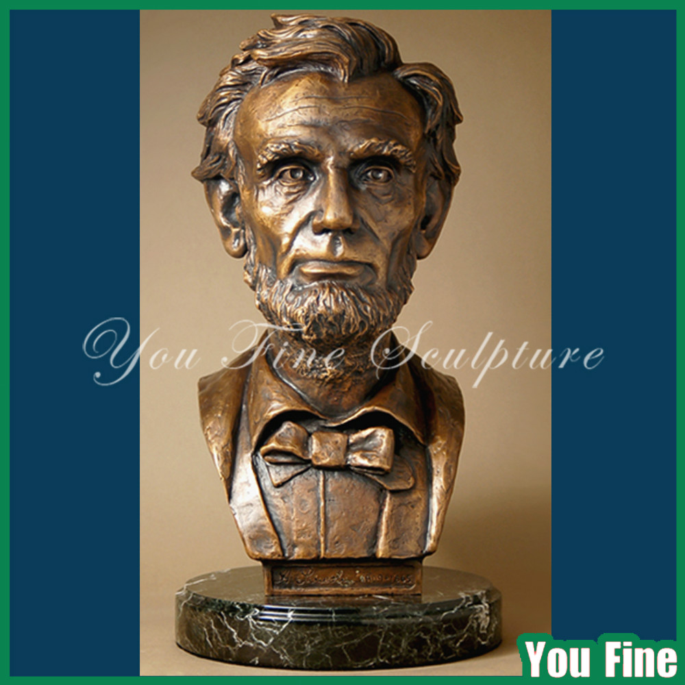 Customized President Lincoln Famous Head Bronze Bust
