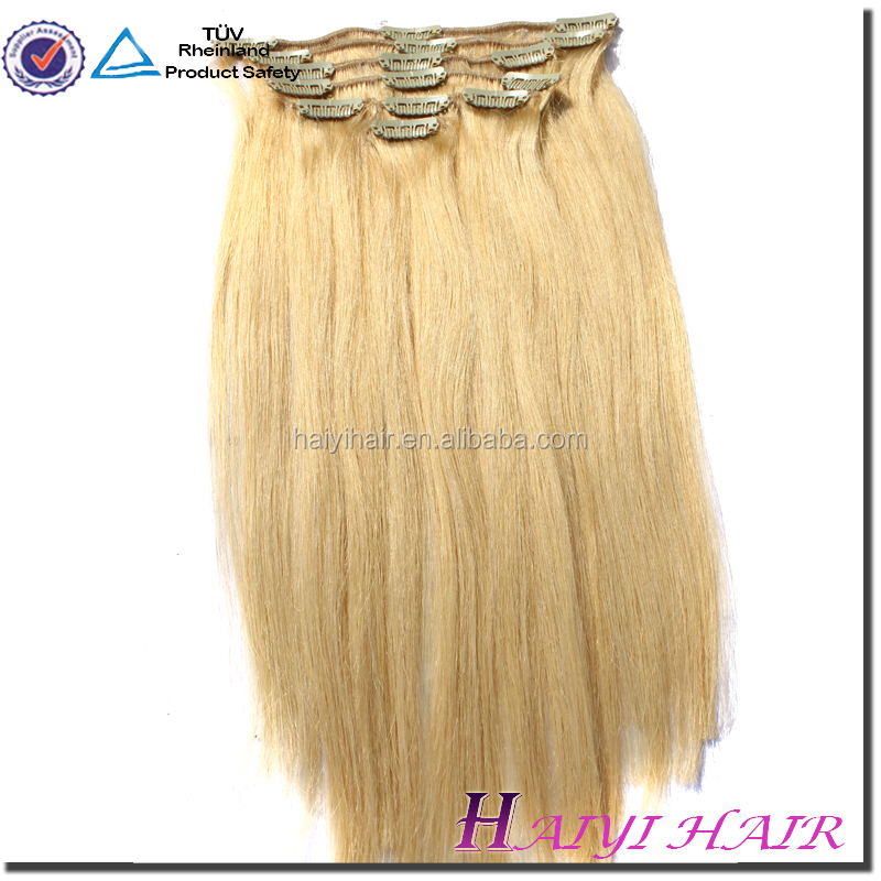 Wholesale Alibaba Remy Virgin Hair Human Hair Clip in Hair Extension For African American