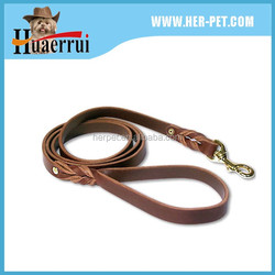 2016 factory provide low price high standard leather leash with leather padding