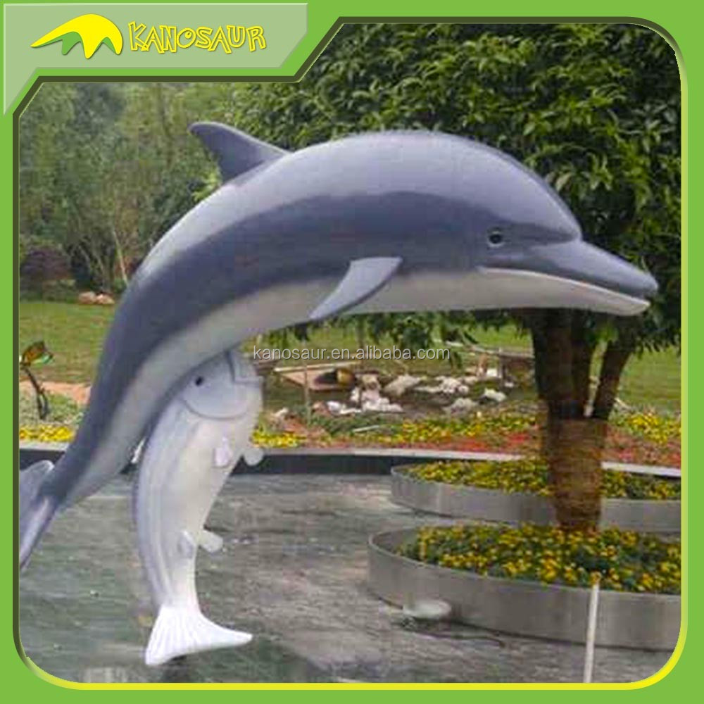 KANOSAUR0951 Decorative Customized Resin Animal Dolphin Statue