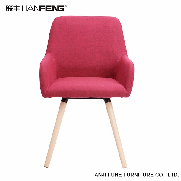 Latest graceful red leisure chair