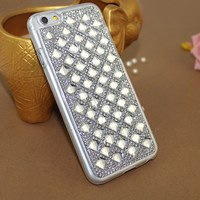 New Product Mobile phone PC Material Bling Diamond Crystal Cases For iPhone 6 Case