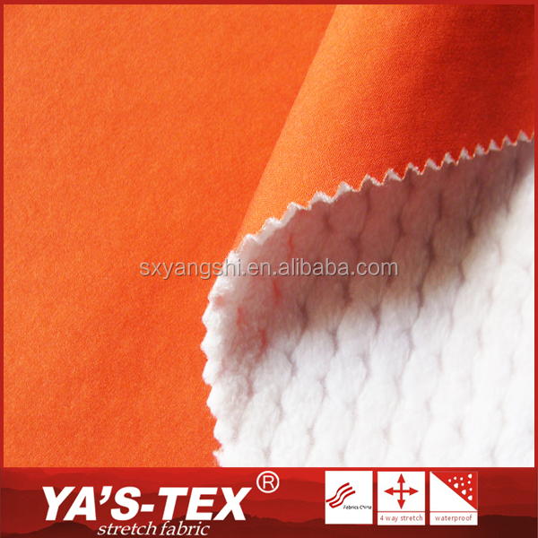 China Textile Polyester Jersey Knitted Stretch Fleece Fabric TPU Laminated Sports Wear Fabric