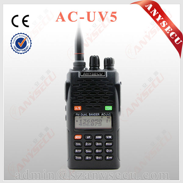 Dual Band 136-174MHz & 400-480MHz ANYSECU AC-UV5 Mobile 2 way radio
