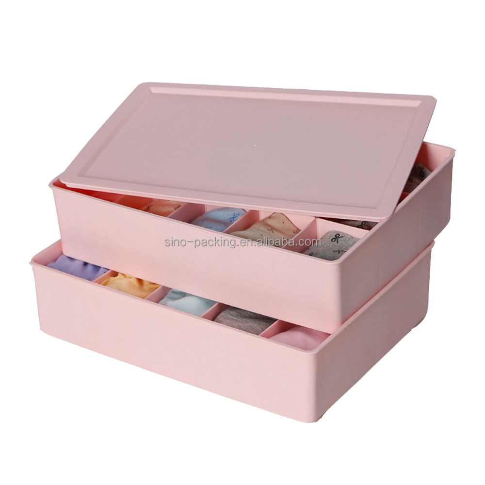 Multicompartment underwear storage packaging paper box