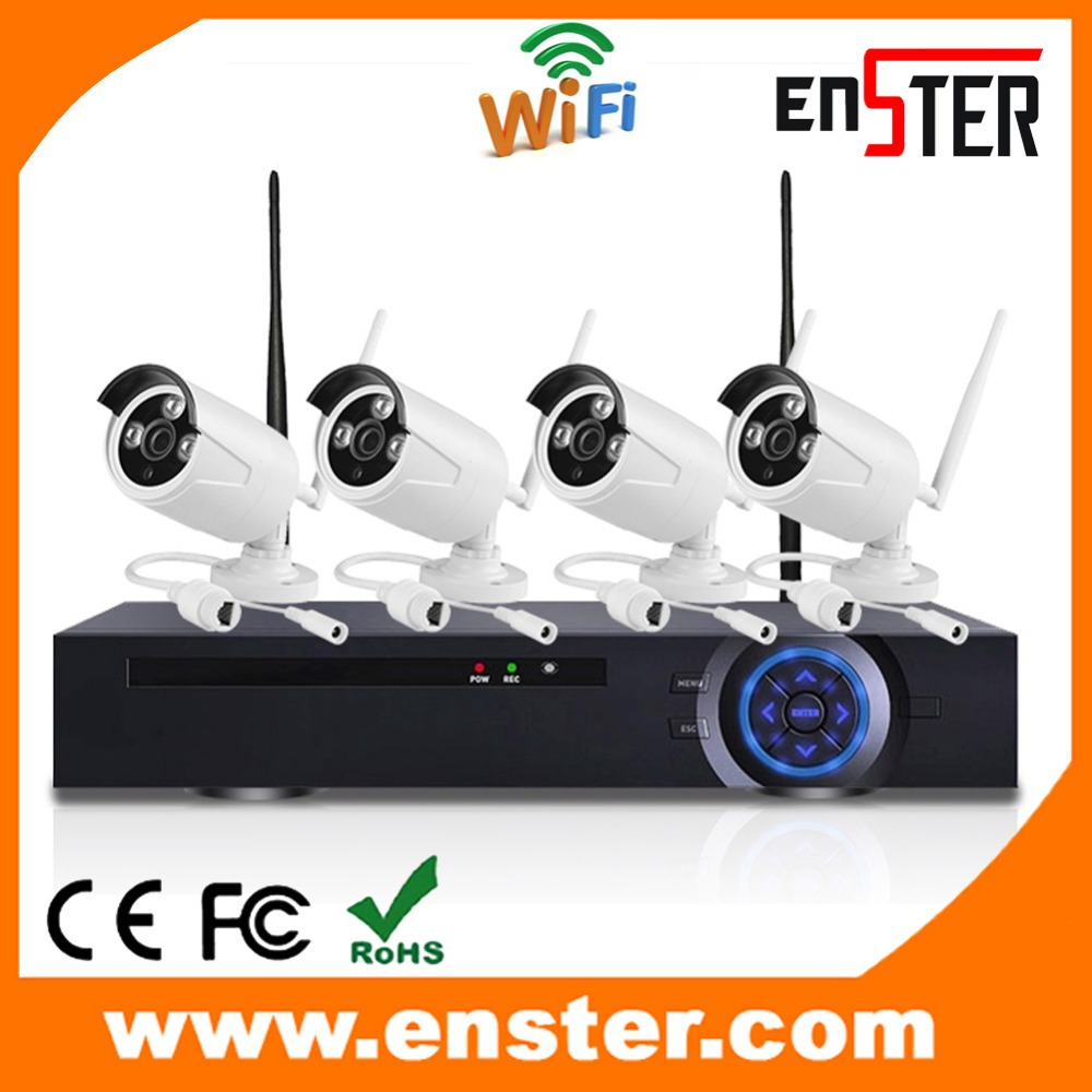 China Supplier Produce Wifi ip Camera And Wifi NVR Kit With 4 pcs 720p Wireless IP Camera Plug and play