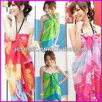 Wholesale Cheap Sexy Beach Wear Fashion Women's Sarong Dress Summer Bikini Cover Up Beach Wrap Skirts Towel