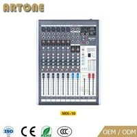 Professional Audio battery powered digital sound mini mixer audio for sale