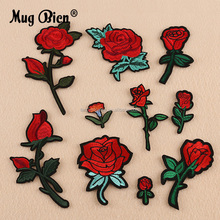 Fashion embroidery small flowers applique patch work designs for bed sheets