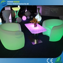 Decoration color changing party wedding table and chairs GKS-073QU