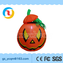 Manufacture supply wholesale Best-sale Halloween giant inflatable pumpkin decoration with LED light