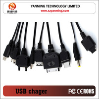 10 in 1 universal usb multi charger cable for mobile phone, mp3, mp4