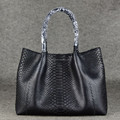 Stylish genuine python leather handbags european fashion bloger