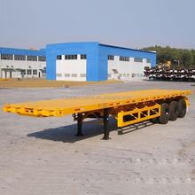 High quality tri-axle flatbed semi-trailer container trailer low flatbed trailer