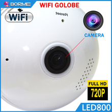 2017 360 degree panoramic wireless ip camera hot online shopping, outdoor wifi panoramic hd light bulb camera