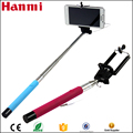 2017 Factory direct sale wired selfie stick, colorful selfie stick