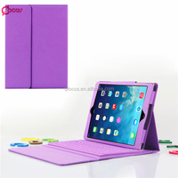 New Coming bluetooth wireless detachable keyboard leather case cover for iPad Air bluetooth keyboard for ipad air