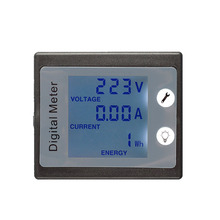 Digital LCD Wattmeter Voltmeter Power Energy Monitor Panel AC220V 10A Voltage Current Energy Electricity Power Consumption <strong>Meter</strong>