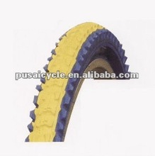 Applied colour foot hit front bicycle tire for sale