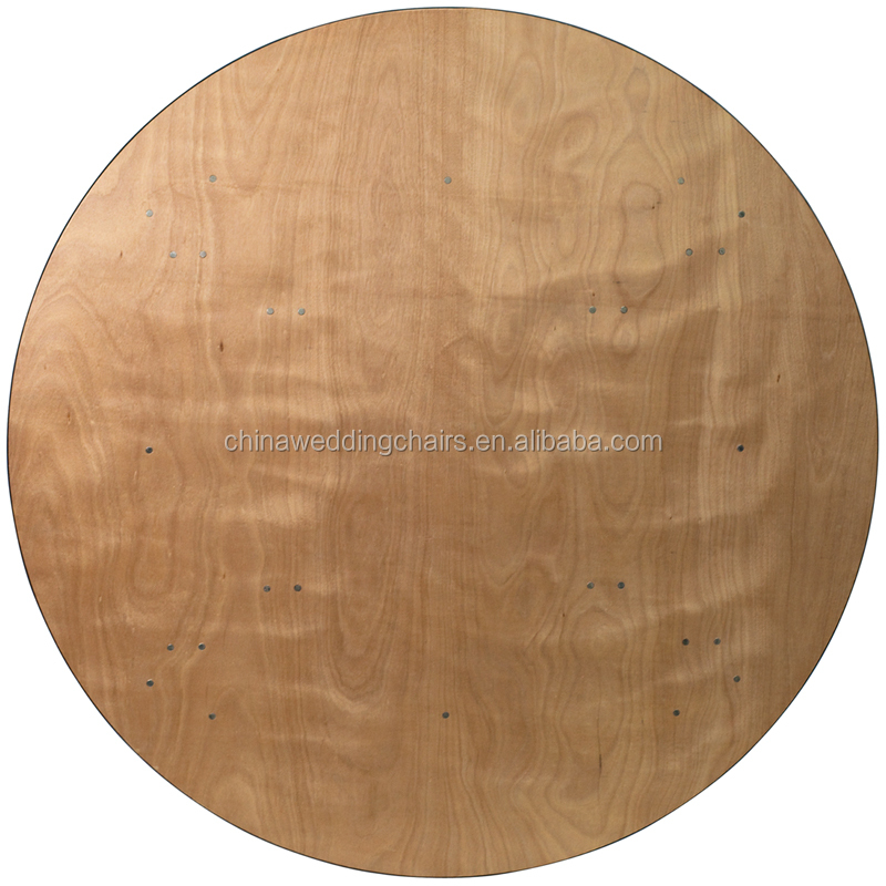 wood round circle folding dining table top