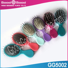 Electroplate Reduced hair loss and breakage hair brush,smooth wet or dry detangling hair brush