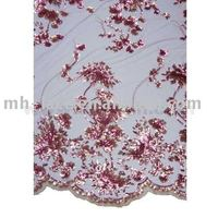 MESH EMBROIDERY BEADS & SEQUINS BRIDAL LACE FABRIC