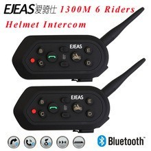 2016 New ejeas brand E6 wireless 6 riders bt interphone bluetooth helmet intercom motorcycle for wholesale