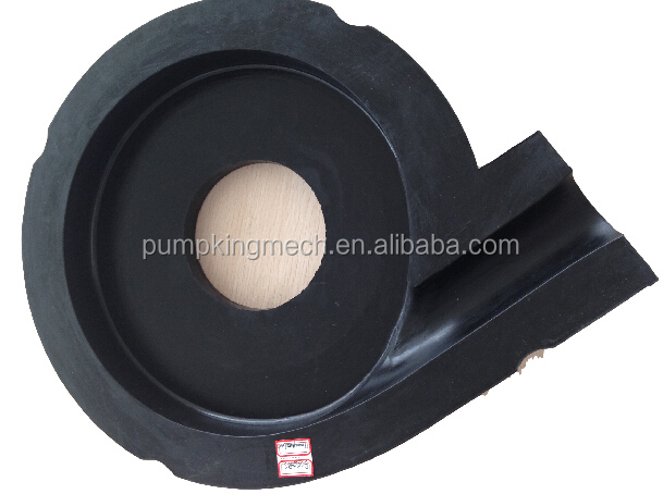 Fully interchangeable rubber wetted parts of slurry pump