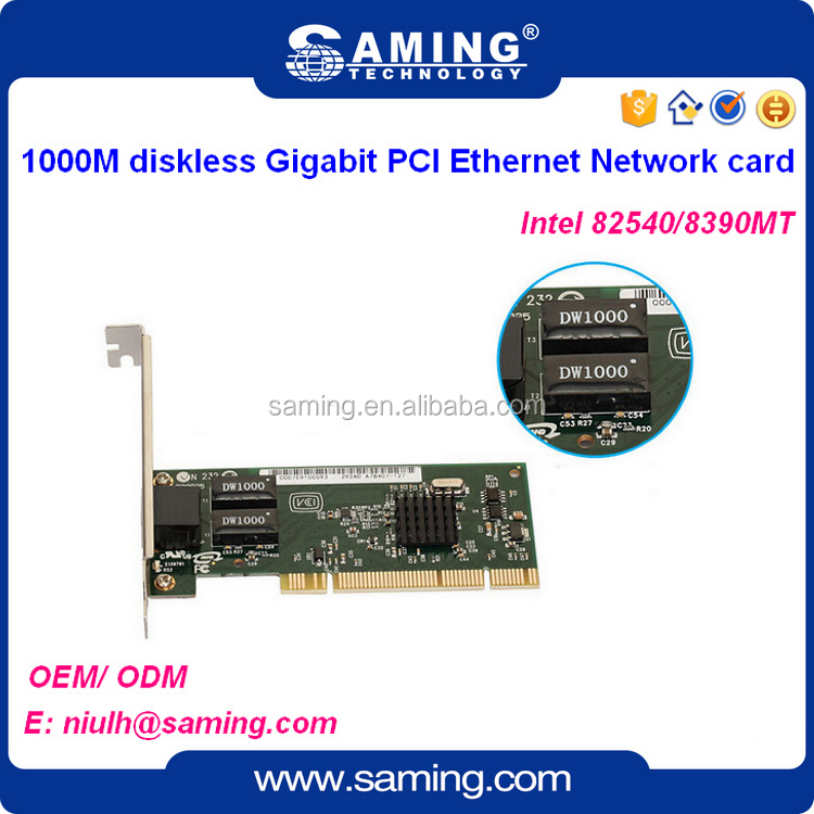 1000M bps PCI Ethernet network card/ lan adapter with Intel 82540em 8390mt
