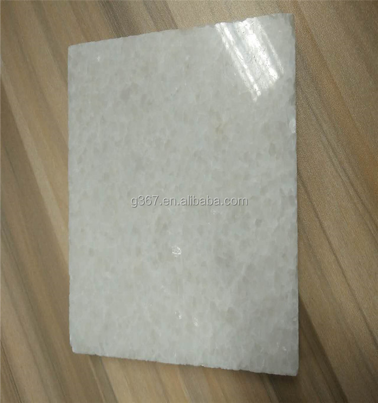 Cabinet door Crystal White Marble honed top wooden marble