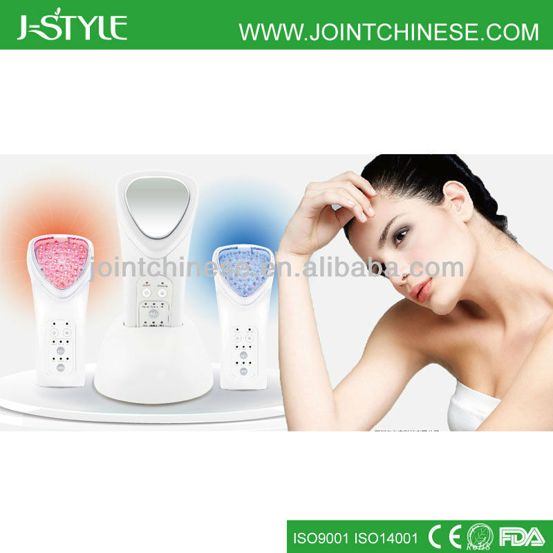 J-style multifunctional 3-IN-1 red blue led light skin rejuvenation forever young wrinkle removal skincare