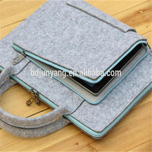 Alibaba factory nepal felt wool bag for ipad felt document bag felt laptop bag