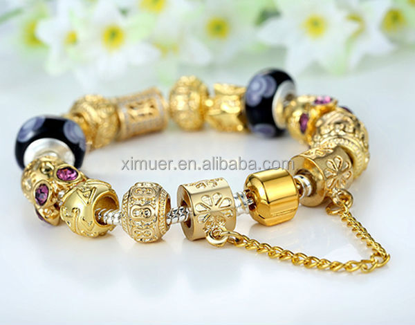 2015 Newest bracelet jewelry, High quality gold bead bracelet