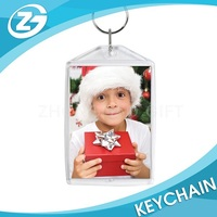 Wholesale Factory Promotional Clear Plastic Acrylic Photo Key Chain