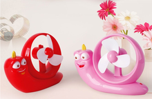 Hitech 2015 hote sales snail mini Table Fan,rechargeable fan Cartoon snail USB fan