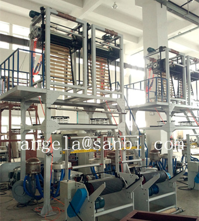 LDPE / HDPE High Speed Double Head Film Blowing Machine