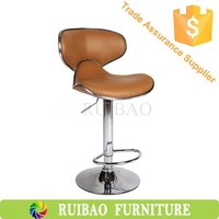 PU PVC Leather Bar Stool Kitchen Chair Seat Swivel Chair Restaurant Chair