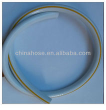 White Polyester Fiber Braided Reinforcement Pvc Gas Hose with Yellow Line