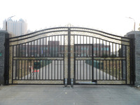barrier gate price customer design sliding gate Ornamental gates/main gate design