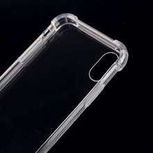 360 Degree protective unbreakable thickening clear cell phone cover case for iphone X