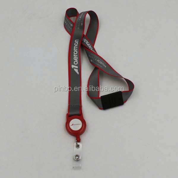 Custom Polyester Water Bottle Holder Neck Lanyard Strap With ID Holder Retractable