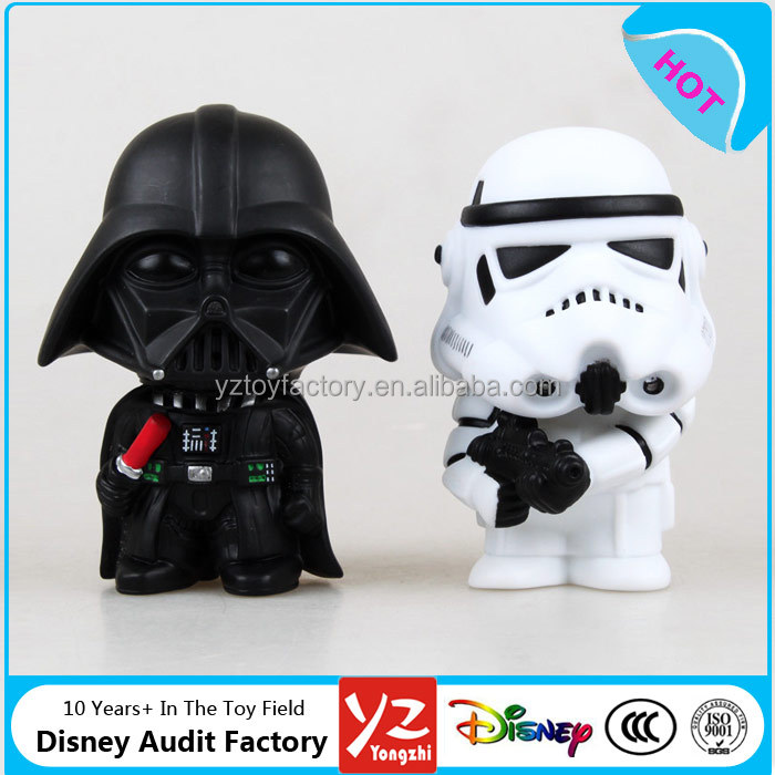 Wholesale Super Cute Custom Stars Wars Toys Action 3D Plastic Figures toys