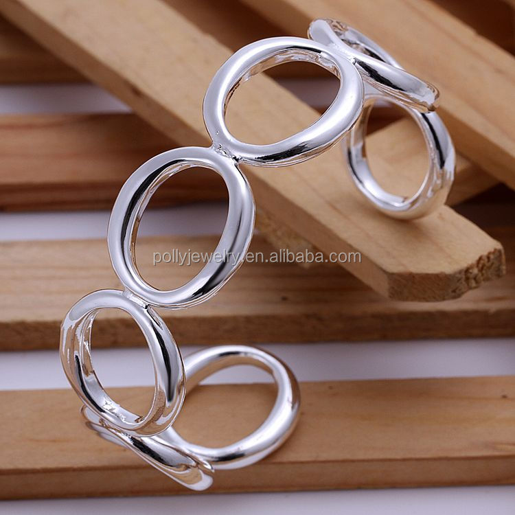 Fashion Silver Cuff Bracelets Bangles For Women Men Jewelry Female Charm Bracelet Accessories