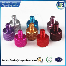 Anodized aluminum knurled thumb screw knurled head cap screw manufacturer in Shenzhen