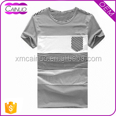 Striped jersey t-shirts print logo customized