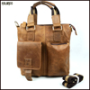 Popular customized wholesale mens shoulder bag leather handbag
