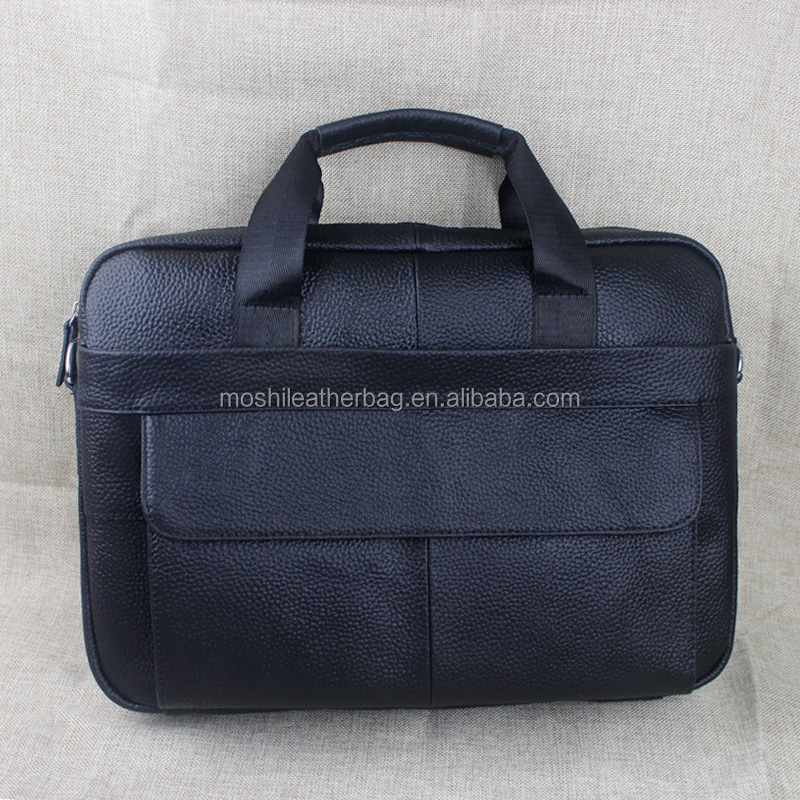 Full Grain Leather Handmade Men Laptop Briefcase Bag 1115-2