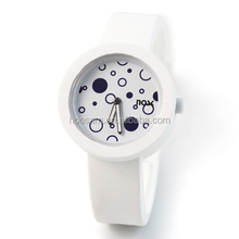 Unisex custom wrist silicone watch Fashionable quartz silicone watch