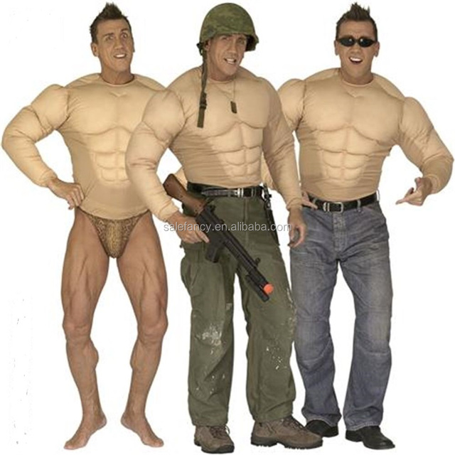 Adult Men Super Hero Muscle Man Chest Fancy Dress carnival costume for men QAMC-2464